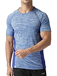 2GO Mens Round Neck Half-Sleeves Running T-Shirts