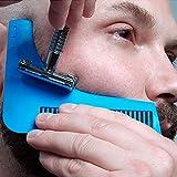 SHOP STORY - Peigne à Tailler la Barbe Beard - Pochoir Guide de Coupe pour des Lignes Parfaites et Symétriques après Rasage Shaving