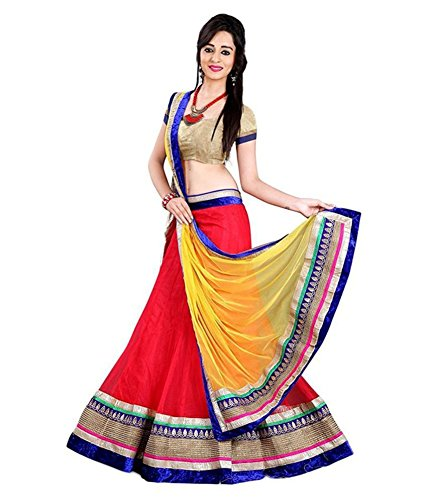 VidhiDev Creation Red Color Net Fabric Lehenga Choli