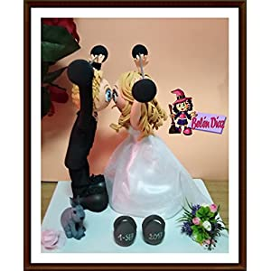 Abbildung Grooms Kuchen Puppen Hochzeit