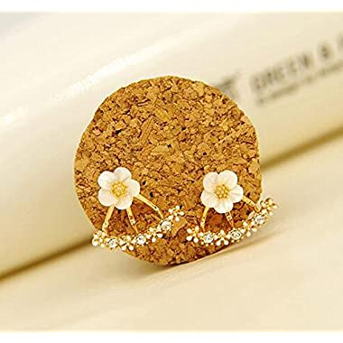 Hosaire 1 Pair New Fashion Style Small Cute Daisy Flowers Stud Earrings For Women Jewelry Accessories(Pink)