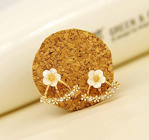 - 51RdTaNGlFL - Hosaire 1 Pair New Fashion Style Small Cute Daisy Flowers Stud Earrings For Women Jewelry Accessories  - 51RdTaNGlFL - Deal Bags