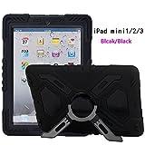 iPad Mini 1/2/3Coque, Meiya New étanche résistant aux chocs saleté Neige Sable Proof Survivor Extreme armée militaire Heavy Duty Coque Béquille pour iPad Mini 123Coque enfant Cadeau iPad 1/2/3enfants Kid