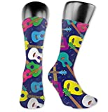 sdkjfg Calcetines largos Calcetines coloridos ukelele hawaianos Calcetines personalizados de media pantorrilla Calcetines de novedad para hombres y mujeres