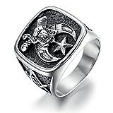Adisaer Ringe Männer Silberring Herren Punk Silber Ring Größe 57 (18.1) Gothic Bandringring Hip Hop Personalisiert Ring Für Sohn