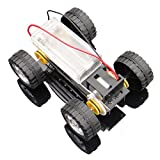 #5: Robocraze Self assembly DIY Mini Battery Powered Metal Car Model Kit WD Smart Robot Car Tank Chassis RC Toy F17924
