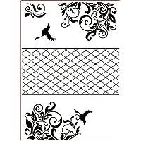 Darice Carpetas de estampación, Plantilla Marco tríptico, Plastic, 29,7 x 21 x 0,3 cm