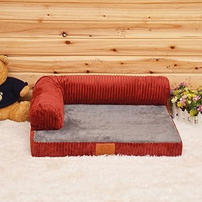 Sofá de espuma de memoria ortopédica de lujo Cama para perro de salón
