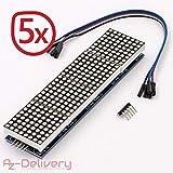 AZDelivery ⭐⭐⭐⭐⭐ 5 x MAX7219 8x32 4 in 1 Dot Matrix LED Anzeigemodul für Arduino mit gratis eBook!