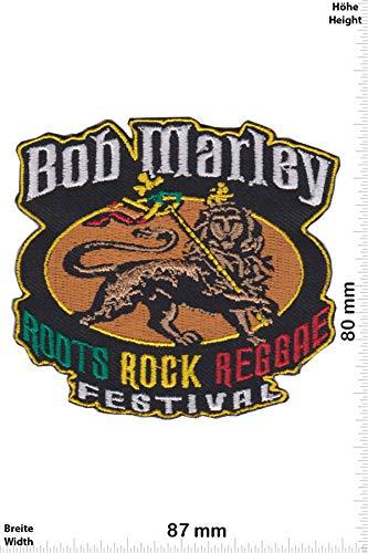 Patch - Bob Marley - Roots Rock Reggae Festival - HQ - Musik - Bob Marley - Bob Marley - Aufnäher - zum aufbügeln - Iron On Bob Patch