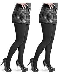 1-3 Stück hochwertige warme Damen Feinstrick Strumpfhose aus Baumwolle mit Elasthan