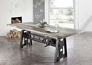 Stile industriale legno antico laccato tavolo da pranzo - Mobile tv stile industriale ...