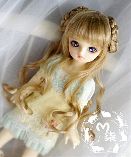 Tita-Doremi Ball-jointed Doll BJD Perücke Puppen Haarteil Für 1/6 6-7 inch Dollfie SD YOSD BB AOD DOD Doll Brown Mohair Wig Hair 6-7