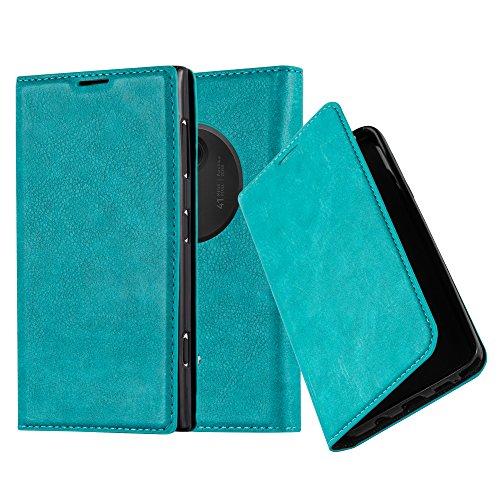 lle in TÜRKIS von Cadorabo - Handyhülle mit unsichtbarem Magnetverschluss Standfunktion und Kartenfach Case Cover Schutzhülle Etui Tasche Book Klapp Style in PETROL TÜRKIS (Nokia Lumia 1020 Hard Hülle)