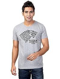 Sharq Game Of Thrones Stark 100% Cotton Round Neck Tshirt