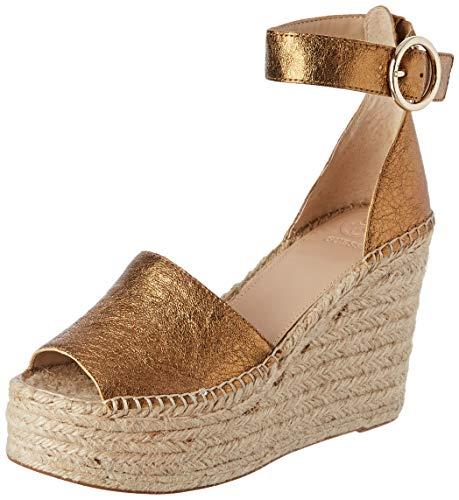 Guess Kaleey/Zeppa (Wedge)/Leather Scarpe col Tacco con Cinturino Dietro la Caviglia Donna, Marrone (Bronze Rust) 36 EU