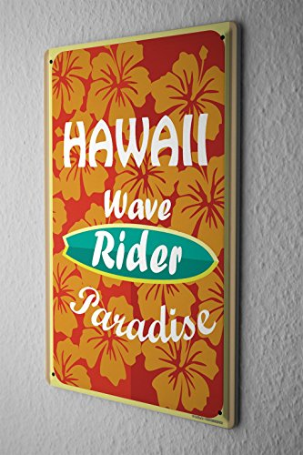 Cartel-Letrero-de-Chapa-Aventurero-Onda-de-Hawaii