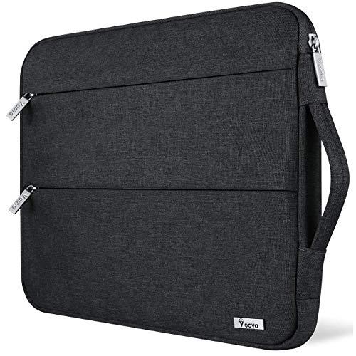 Voova 13 13.3 Zoll Laptophülle Laptoptasche Wasserdicht Notebooktasche Schlank Schutzhülle Kompatibel mit Laptop/Chromebook/Dell/HP/MacBook Air/Pro Retina (Schwarz)