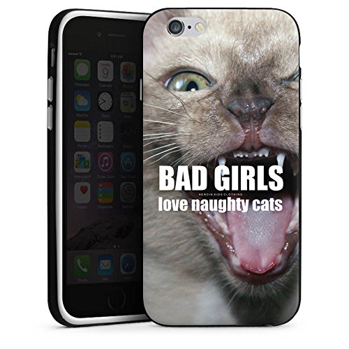 Apple iPhone 5 Housse étui coque protection Chat Chat Fille Housse en silicone noir / blanc
