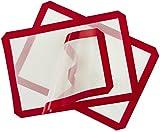 Antiadherente silicona alfombrilla de horneado–Tablas para hojas de la galleta (2unidades, silicona Liners antiadherente antideslizante lavable reutilizable resistente al calor Basics cocción pastry DAB alfombrillas sin BPA FDA