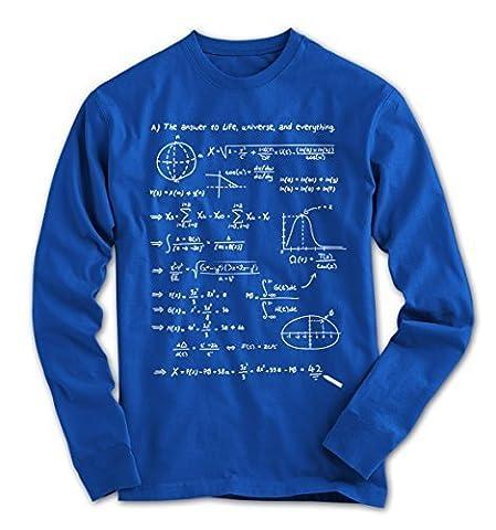 Herren Longsleeve T-Shirt 42 Die Antwort ! Anhalter durch die Galaxis