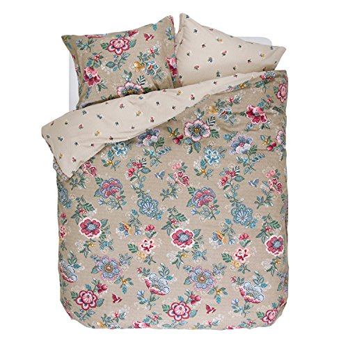 PiP Studio Bettwäsche Berry Bird | Khaki - 135 x 200