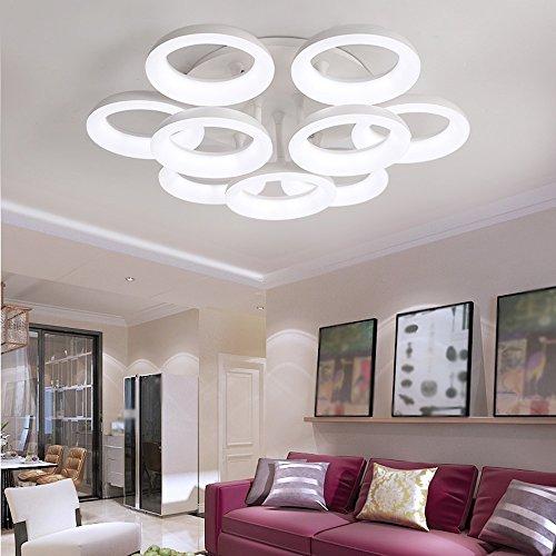 18w Laterne (C-K-P LED Deckenleuchten Master-Schlafzimmer Lichter Raumleuchten moderne Atmosphäre Persönlichkeit Einfache kreative Lampen und Laternen 18W 101.5 * 101 * 19.5cm (größe : Natural white 81W81.5cm))