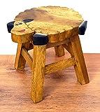 Ausgefallene Kinderhocker mit witzigen Motiven, Holzhocker für Kinder, Kinderstuhl aus Massivholz (Verrücktes Schaf)