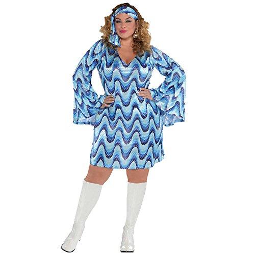 Disco Lady Costume Plus Size (Disco Für Erwachsene Plus Kostüm)