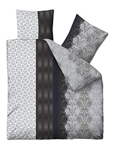 Warme Winter Biber Bettwäsche 200x220 cm 2X 80x80 cm 3 Teilig 100{9958977a361a16f300df81074aca16149a3ba3ce0018878be416c9c6c1b95c6c} Baumwolle Übergröße Ruben schwarz grau Silber