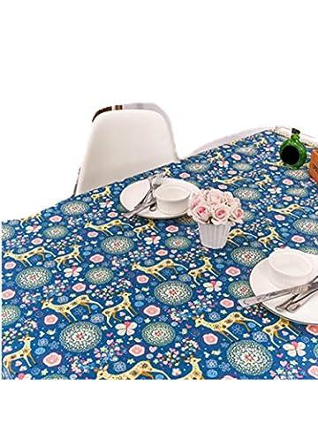 Malloom® Frohe Weihnachten Rechteck Wapiti Rechteckige bedruckte Stoff Tischdecke (140*140cm, (Weihnachten Sankt Bären)