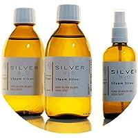 Preisvergleich für PureSilverH2O 600ml Kolloidales Silber (2X 250ml/10ppm) + Spray (100ml/50ppm) Reinheit & Qualität seit 2012