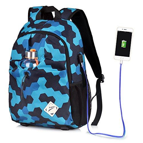 Imagen de vbiger ordenador  portátil oxford computadora hombro bolso casual colegio pantalón con cargando puerto azul