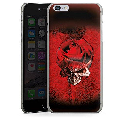 Apple iPhone X Silikon Hülle Case Schutzhülle Rose Blut Dornen Hard Case anthrazit-klar