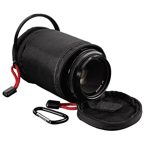 Hama Objektivköcher zur Aufbewahrung und Schutz eines Objektivs, 8 x 6.5 cm, Rexton, Schwarz