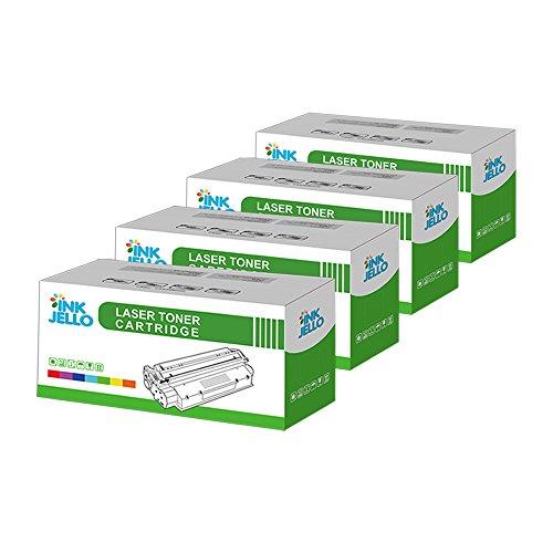 inkjello Kompatibler Toner Ersatz für Dell 17001700N 17101710N Lexmark E230232330332234240340342IBM Infoprint 14121412N 15121512N (schwarz, 4er Pack) - Ibm Lexmark Ersatz