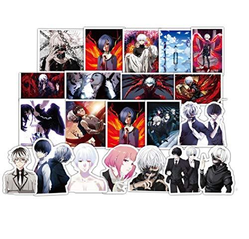 ⭐Top Aufkleber! ⭐ Set von 50 Aufkleber Tokyo Ghoul - Premium Qualität - Vinyls Stickers Nicht Vulgär – Fashion, Stil, Bombe, Graffiti - Anpassung Laptop, Gepäck, Motorrad, Fahrrad, Skateboard ...