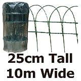 Green Blade BB-CW125 Grillage de clôture pour jardin en PVC Vert 10 x 0,25 m