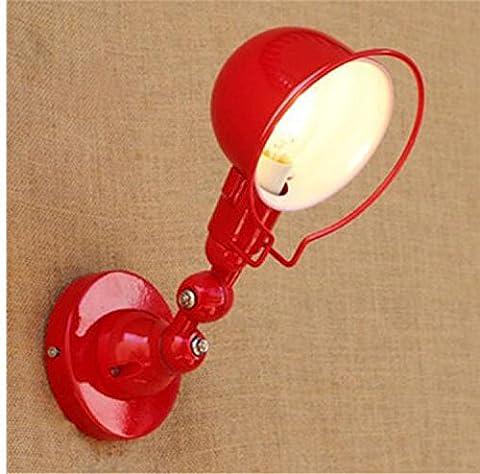 La LED peut être rabattus, Leuchten mécanique longue Bras mural extensible Leuchten, rouge–pas de lumière, Applique murale, Applique murale, lit, lampe pour le salon, restaurant, bar, hôtel, [énergétique: A +]