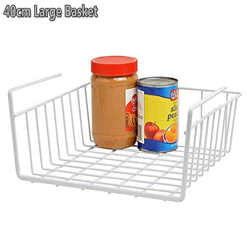 Under Shelf Basket Storage Space Saving Steel Bronze: FB FunkyBuys® Under Shelf White Basket Wire Rack- Kitchen