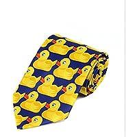 Fengh Fashion Cartoon para hombre Fancy de goma pato patrón cuello Tie _ amarillo y azul