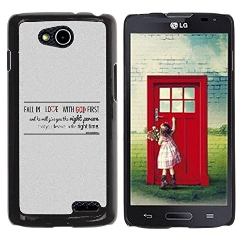 DREAMCASE Bibelzitate Bild Hart Handy SchutzHülle Hülle Schale Case Cover Etui für LG OPTIMUS L90 D415 - FALL IN LOVE WITH GOD (Lg Fällen Handy Für Optimus L90)