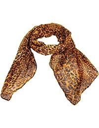 Calonice Amorino Damen Schal Leopard Print 100% Polyester (L) 185x95 cm (LxH) 4000