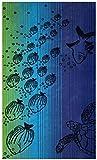Betz Strandtuch Strandlaken Duschtuch Badetuch 100% Baumwolle Größe 75 x 150 cm Fische