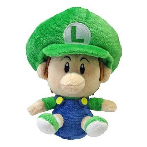Peluche de Little Buddy Global Holdings, Luigi bebé de la saga Super Mario (12 cm)