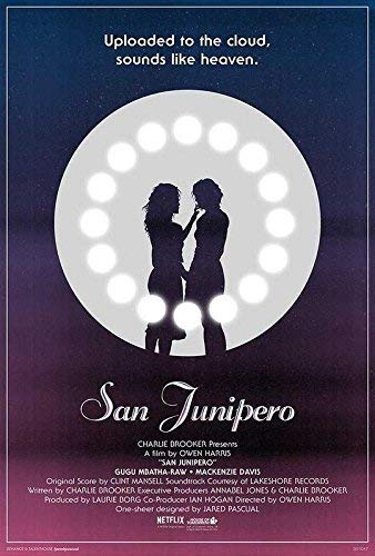 Poster, Motiv: Black Mirror TV-Show San Junipero Uploaded in The Cloud. Kelly Booth Gugu Mbatha-Raw Yorkie Mackenzie Davis, gerollt, 30,5 x 45,7 cm