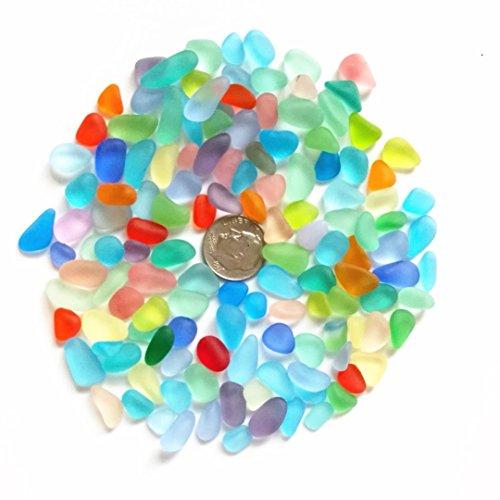 Perline di vetro di mare/spiaggia perline di vetro per fare gioielli (taglia piccola/8-12mm, arcobaleno multicolore mix, non forato), 200 pieces