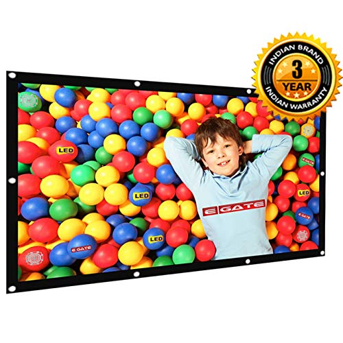 Egate EYE64 Projector Screen Eyelet, 6 x 4 feet | Flexible and fordable Material