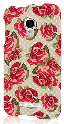 Empire MPERO SNAPZ Series Gummierte Case Tasche Hülle for Alcatel ONETOUCH Fierce 7024W - Vintage Red Roses