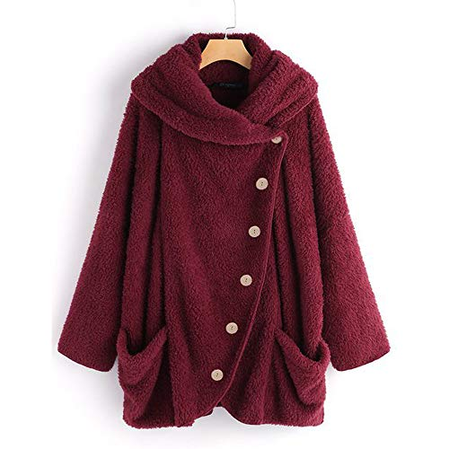 Berimaterry Damen Wollmantel Wintermantel Jacke Frauen Casual Elegant Solide Rollkragenpullover Große Taschen Mantel Gestrickter Langarmshirt -